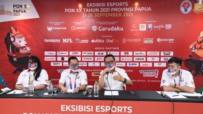 Eksibisi Esports PON XX Papua 2021 Jaring 49.905 Atlet dan 10.877 Tim Esports Potensial