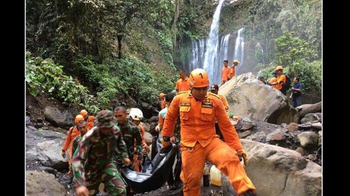 Berhasil Dievakuasi, Warga Malaysia Korban Longsor Air Terjun Tiu Kelep Lombok Pascagempa