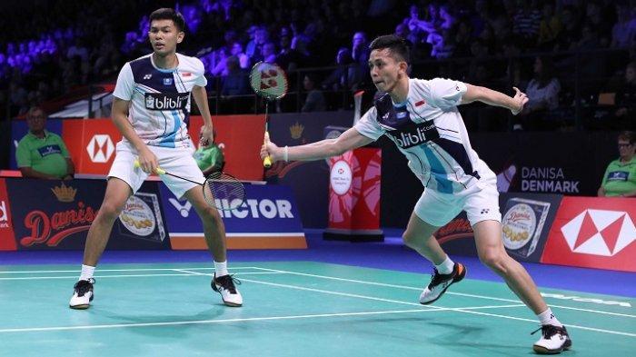LIVE STREAMING Final Bulutangkis Putra SEA Games 2019: Fajar/Rian Keok, Indonesia 1-1 Malaysia