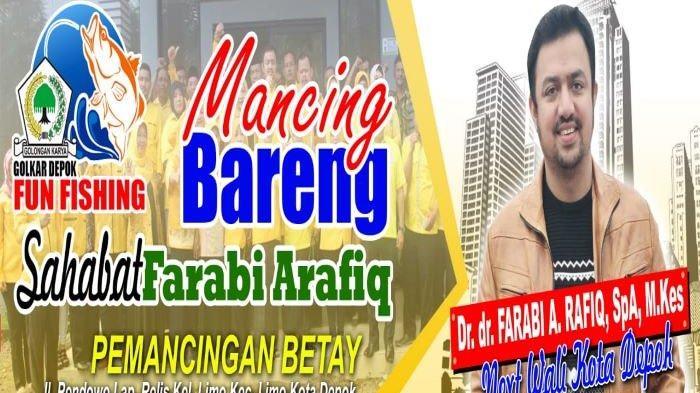 dr Farabi A Rafiq menggelar acara mancing bareng untuk menjalankan amanah Musda Partai Golkar Kota Depok.