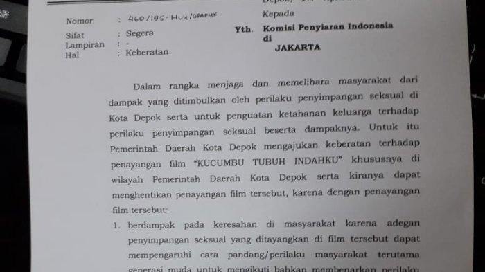 Wali Kota Depok Cekal Penayangan 'Kucumbu Tubuh Indahku'