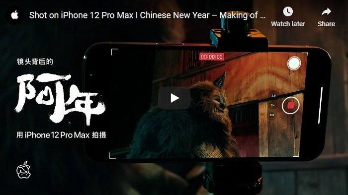 Apple Bikin Film Pendek Tentang Legenda Imlek, Syuting Pakai Kamera iPhone 12 Pro Max, Ini Videonya