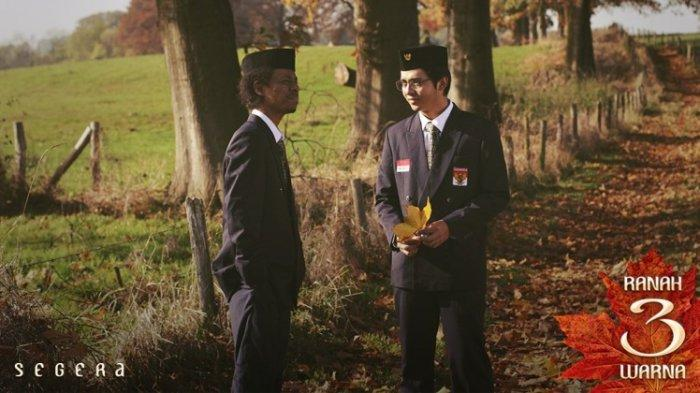 Arbani Yasiz, pemeran Alif Fikri, ketika berakting di film Ranah 3 Warna garapan sutradara Guntur Soeharjanto. Film Ranah 3 Warna akan segera ditayangkan.