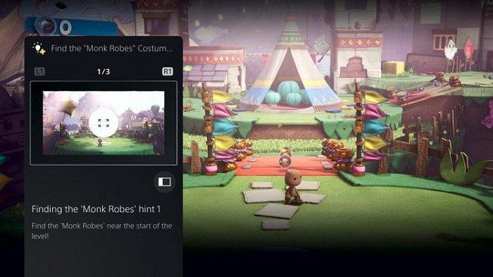 Fitur Game Help di PS5 (PlayStation 5) yang dapat menampilkan gambar dan video berisi bantuan ketika pemain terjebak di suatu level tertentu.