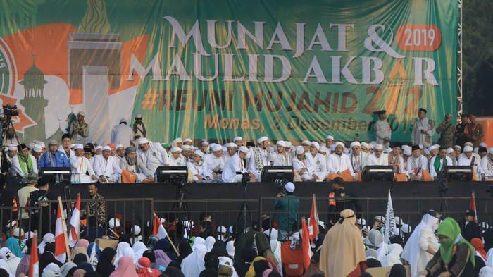 BERITA FOTO: Beginilah PenampakanAksi Munajat dan Maulid Akbar 212 di Monas