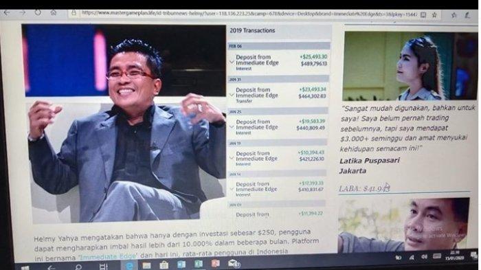 BREAKING NEWS: DIRUT TVRI Helmy Yahya Dicatut untuk Permainan Investasi Janjikan Keuntungan 10.000 %