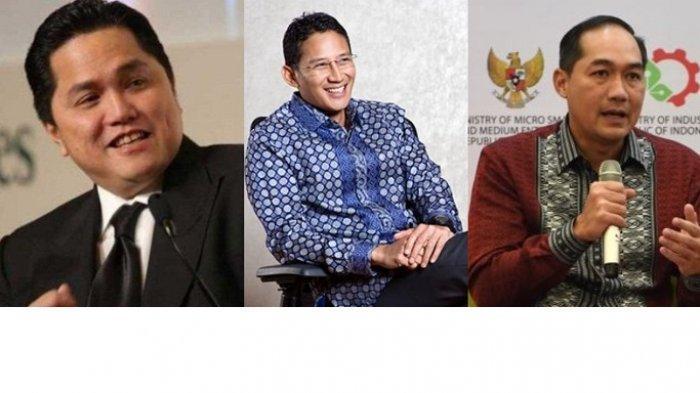Foto Lawas Erick Thohir, Sandiaga dan M Lutfi, Dulu Nongkrong Bareng, Sekarang Bantu Jokowi Bareng