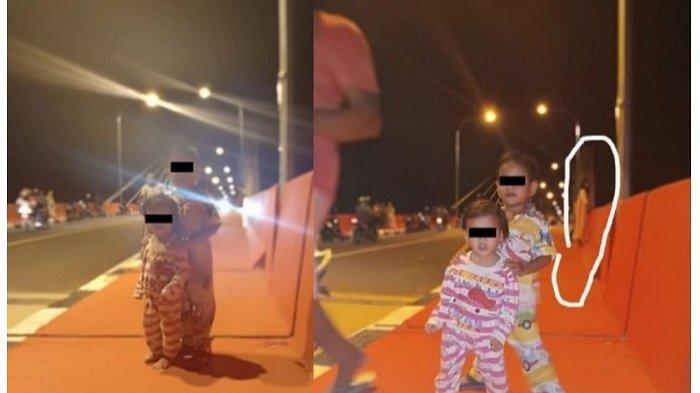 FOTO PENAMPAKAN Viral di Medsos, Terpotret Sosok Diduga Kuntilanak Berdiri di Pinggir Jembatan