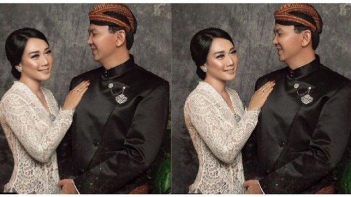 FOTO Wedding Ahok dan Puput Nastiti Devi Viral di Medsos, Kenakan Klasik Kebaya dan Beskap