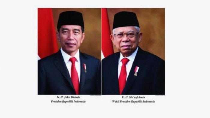 INI Dia Foto Resmi Presiden dan Wakil Presiden 2019-2024, Maruf Amin Tampil Beda