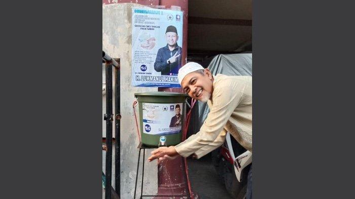 Fraksi PAN DPRD DKI Bangun 200 Tempat Cuci Tangan Pakai Ember