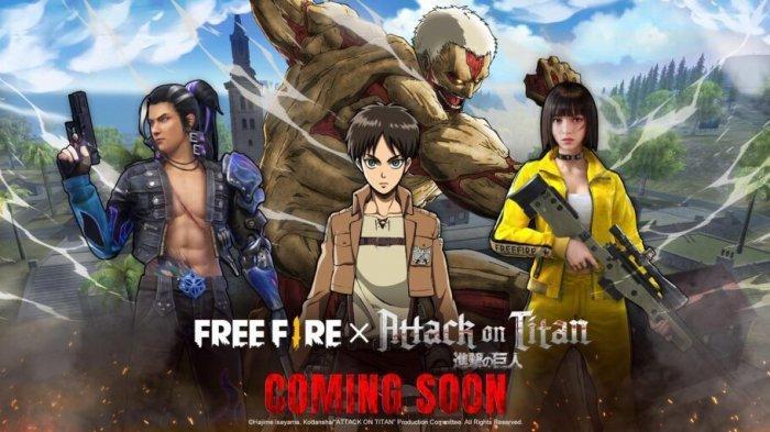 Karakter Anime Attack on Titan Hadir di Video Game Esports Garena Free Fire