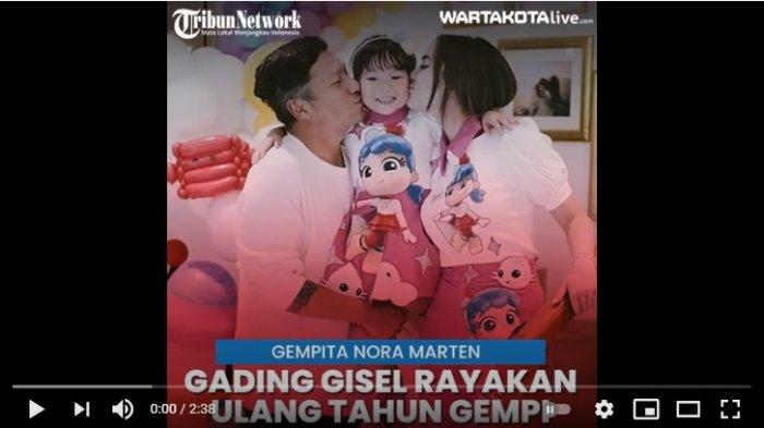 Gading Marten dan Gisella Anastasia merayakan hari ulang tahun buah hati mereka Gempita Nora Marten alias Gempiyang kini genap berusia 6 tahun, Sabtu (16/1/2021).