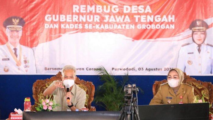 Giliran Lurah se-Kabupaten Grobogan Ngobrol Langsung dengan Gubernur Ganjar Lewat Rembug Desa