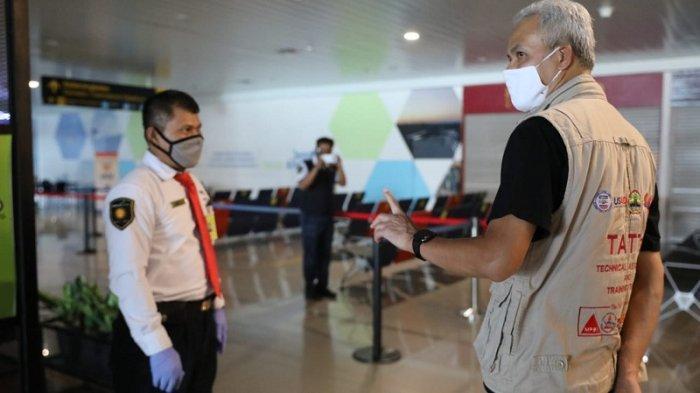 Tinjau Bandara Ahmad Yani Semarang, Ganjar Puas dengan Penerapan Protokol Kesehatan