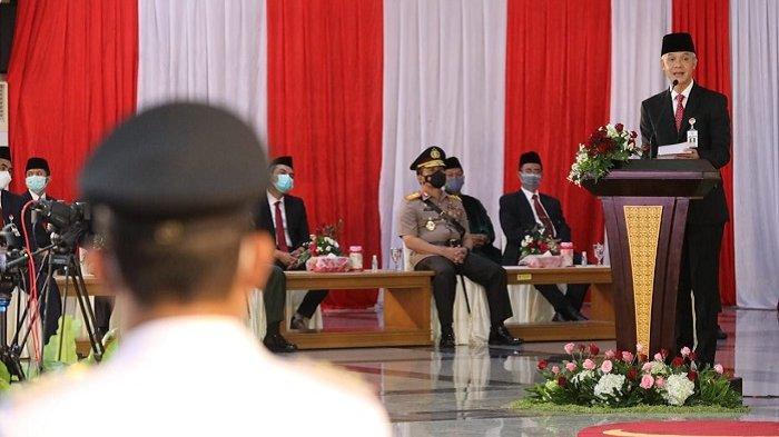 Ganjar Bacakan Pidato Bung Karno Usai Lantik Kepala Daerah Terpilih Pilkada 2020