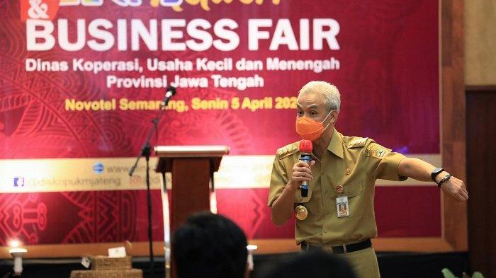 Hadiri UMKM Network and Business, Ganjar Janjikan Beri Pelatihan dan Pendampingan UMKM