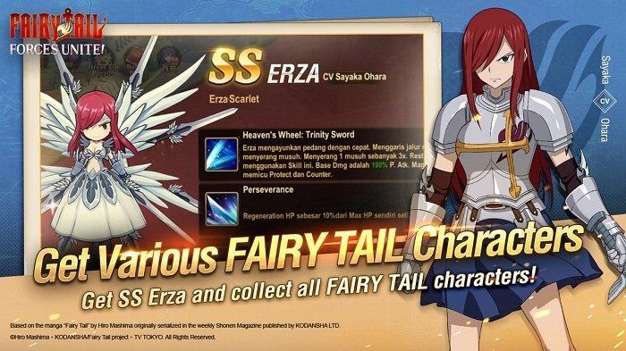 Garena Indonesia resmi merilis game FAIRY TAIL: Forces Unite!. Game yang mengadaptasi komik populer FAIRY TAIL ini sudah bisa didownload di Play Store dan Apple Store dan pemain bisa mendapatkan langsung salah satu karakter kuat SS Erza Scarlet secara gratis.