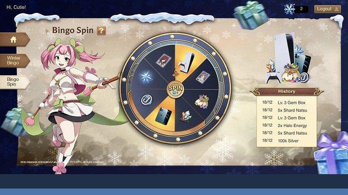 Garena Indonesia menghadirkan event Winter Bingo untuk para pemain game FAIRY TAIL: Forces Unite! yang baru saja diluncurkan beberapa waktu lalu. Bagi pemain game FAIRY TAIL: Forces Unite!  yang mengikuti Winter Bingo, berkesempatan mengikuti Bingo Spin untuk mendapatkan PS5 dan iPhone 12 Pro Max.