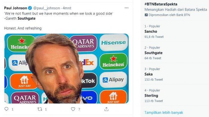 Southgate Trending, Meski Timnas Inggris Lolos, Racikannya Dipertanyakan, Dianggap Membosankan