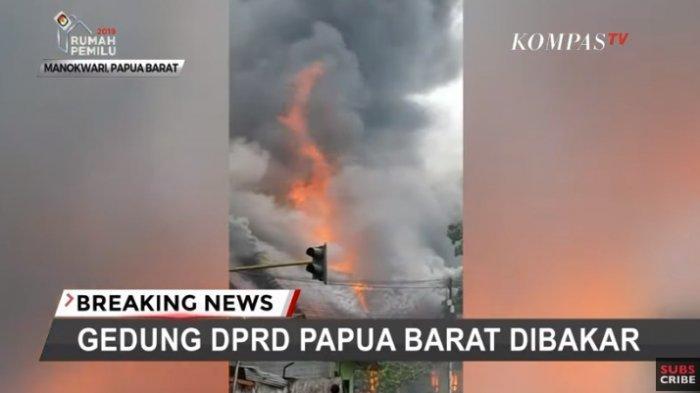 Gubernur Papua Barat Sebut Gedung DPRD Sudah Terbakar Saat Demonstran Tiba, Ada yang Menunggangi
