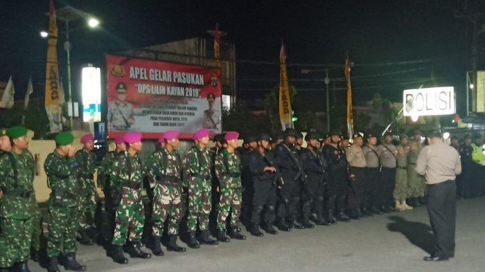 Prajurit Yonmarhanlan XIII Ikut Apel Gelar Pasukan Di Polres Tarakan