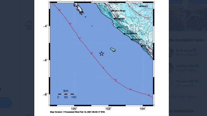BREAKING NEWS: Gempa Bumi 6,5 SR Terjadi di Bengkulu dengan Kedalaman 10 Km