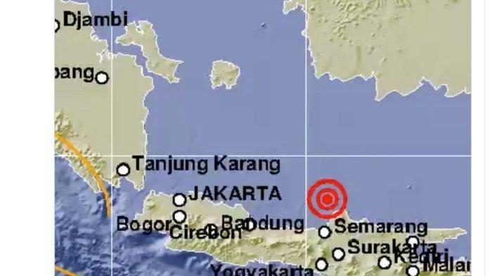 KEKUATAN Gempa Bumi di Jepara Jawa Tengah Dahsyat Dirasakan Ratusan Km sampai ke Lampung dan Bali