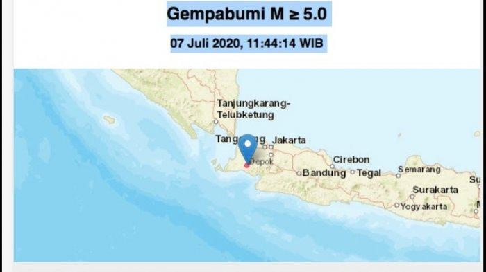 Breaking News Gempa Di Rangkas Bitung 5 4 Sr Terasa Sampai Jakarta Dan Depok Pukul 11 44 Wib Halaman All Warta Kota