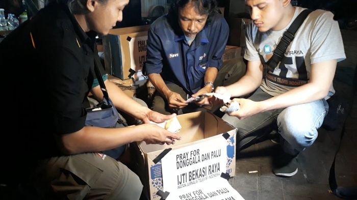 IJTI Bekasi Raya Galang Dana untuk Korban Gempa-Tsunami  Palu dan Donggala