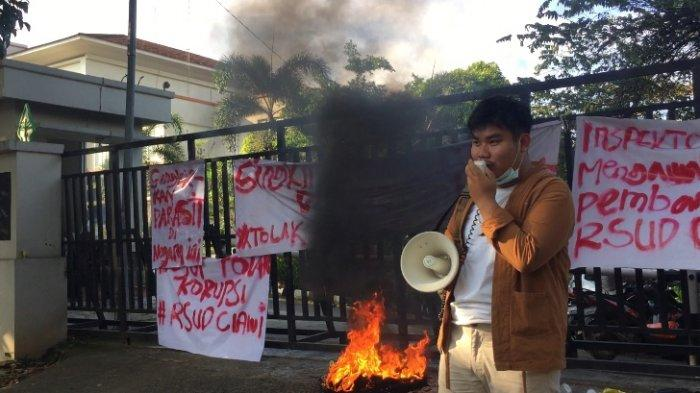 GEMPAR Minta Usut Dugaan Korupsi Pembangunan RSUD Ciawi saat Geruduk Dinas Kesehatan Kabupaten Bogor