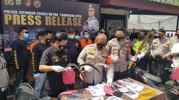 Polrestro Tangerang Gulung Geng Motor Bercelurit yang Kerap Beraksi di Kota Tangerang