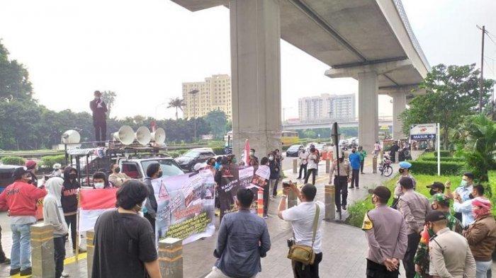 Massa Gelar Aksi di Kantor Kanwilkumham DKI Jakarta Soroti Dugaan Napi Terlibat Bisnis Narkotika