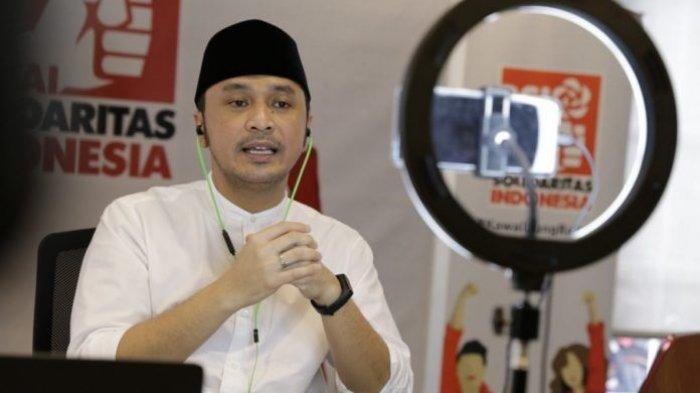 Pelaksana Tugas Ketua Umum Partai Solidaritas Indonesia (PSI) Giring Ganesha.