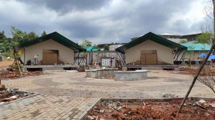 RLC Kota Tangsel Optimistis Pembangunan Tenda Bertema Glamping Rampung Akhir Februari 2021