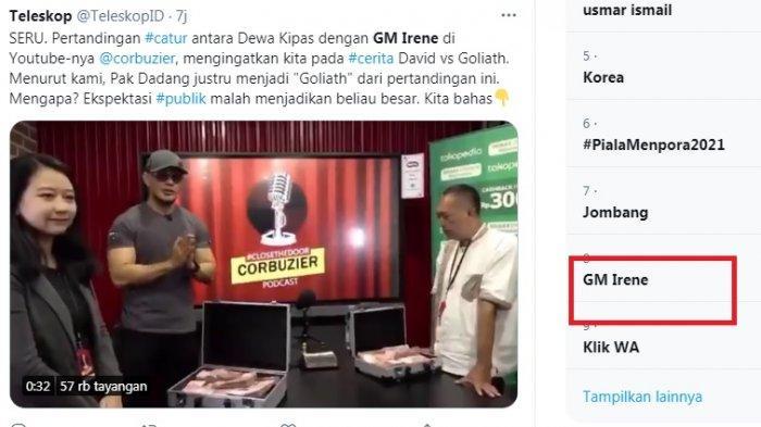 Percasi Sebut Laga Dewa Kipas vs GM Irene Bukan Momentum Kebangkitan Dunia Percaturan Indonesia