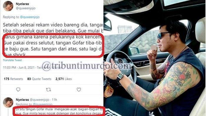 Pengakuan Nyelaras si pemilik akun Twitter Quweenjojo yang menuding Gofar Hilman melakukan pelecehan seksual padanya.