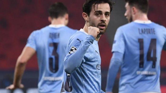 Sedang Berlangsung Babak Kedua, Moenchengladbach vs Manchester City 0-1, Gol Bornardo Silva