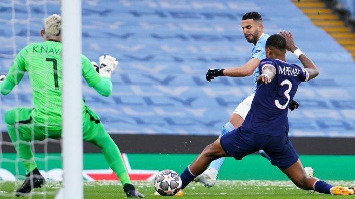 Skor Sementara Babak Kedua Manchester City vs PSG 2-0 Lewat Gol Mahrez Lagi, City Lolos ke Final?