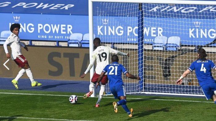 Hasil Liga Inggris Leicester City 1-3 Arsenal: Tim Tuan Rumah Gagal Mengkudeta Manchester United