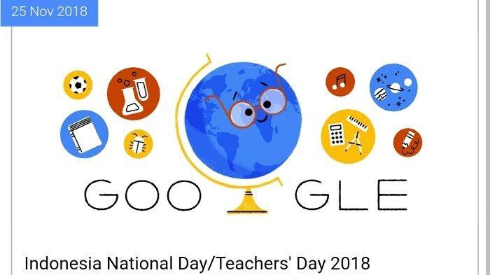 Google Ucapkan Selamat Hari Guru Nasional 2018 untuk Indonesia