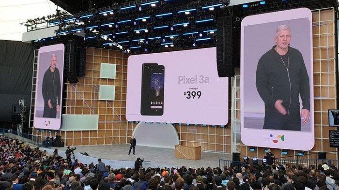 Google Pixel 3a resmi diluncurkan di kantor Google, Mountain View, Amerika Serkat, Selasa (7/5/2019).