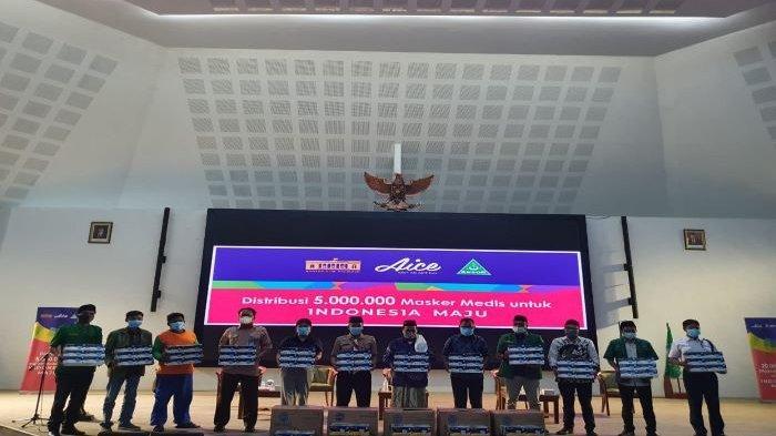 GP Ansor, Aice Group, dan KSP Salurkan 150.000 Masker untuk Pusat Keramaian di Kabupaten Bogor