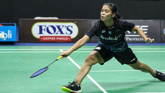 Gregoria Mariska Tunjung membuka kemenangan tim Garuda setelah mengalahkan Ruselli Hartawan