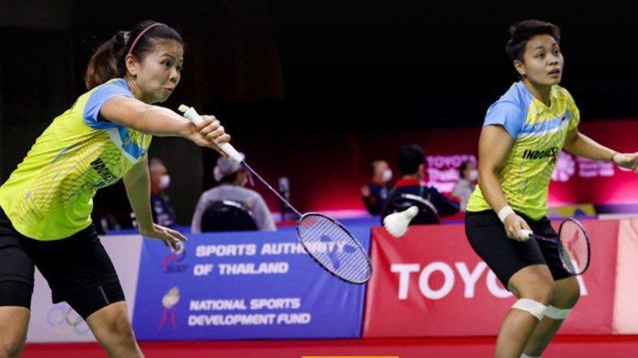 Greysia/Apriyani Lolos Ke Perempat Final Toyota Thailand Open Kalahkan Wakil Kanada