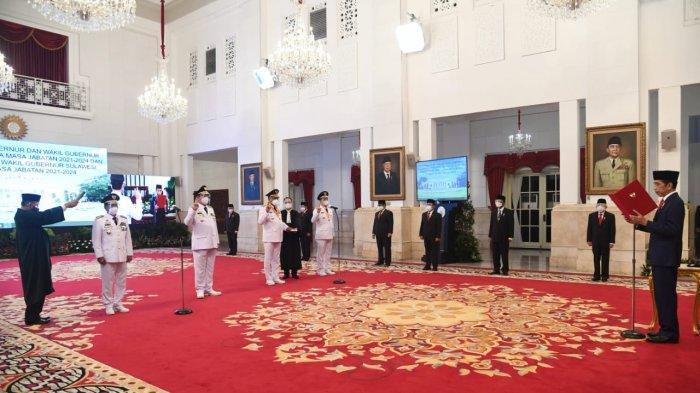Presiden Joko Widodo Melantik Pasangan Gubernur dan Wagub Sulut dan Kaltara