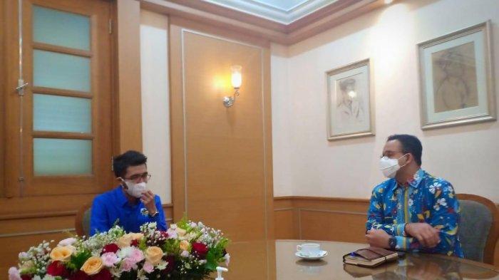 Gubernur DKI Anies Baswedan Berpesan Begini ke Ketua KNPI DKI Terpilih Ronny Bara