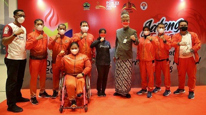 Gubernur Jateng Ganjar Pranowo Kukuhkan Atlet PON dan Peparnas, Bertekad Raih Emas dan Pecah Rekor