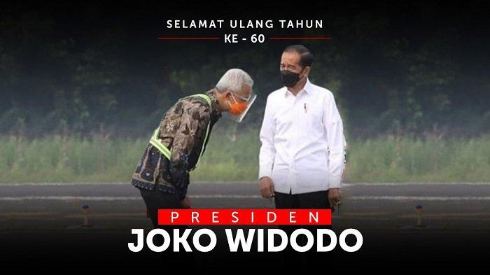 Gubernur Jawa Tengah Ganjar Pranowo memberikan ucapan selamat ulang tahun secara khusus kepada Presiden Jokowi melalui video singkat yang diunggah melalui akun instagramnya @ganjar_pranowo.