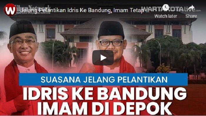 VIDEO Jelang Pelantikan Wali Kota Depok Idris Ke Bandung, Wakil Wali Kota Imam Tetap di Depok